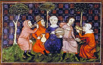 Peasants breaking bread